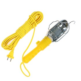 Светильник переносной TUNDRA с выключателем под лампу E27, 10 метров, желтый Ош