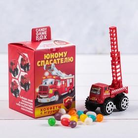 Детский набор «Юному спасателю»: машинка, конфеты 20 г