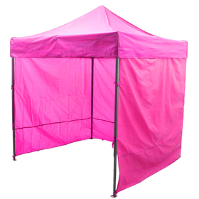 Палатка торговая 3*3, каркас складной чёрный, с молнией, цвет розовый Ош