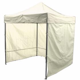 Палатка торговая 3*3, каркас складной чёрный, с молнией, цвет бежевый Ош