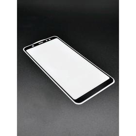 Защитное стекло Innovation 2D для Samsung A6 Plus, полный клей, черное