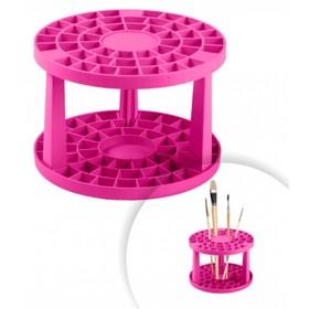 Держатель для кистей пластиковый, розовый Ош