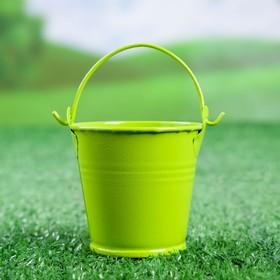Кашпо 'Ведерко' 6*6*6 см зеленое Ош