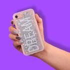Чехол для телефона iPhone 7 с блёстками внутри Dream, 6.5 ? 14 см
