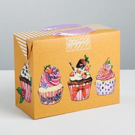 Пакет—коробка «Подарок», 23 × 18 × 11 см Ош