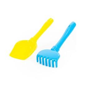 Набор для песочницы: лопатка, грабельки, цвета МИКС