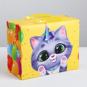 Пакет—коробка «Весёлого праздника», 23 × 18 × 11 см Ош