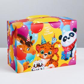Пакет—коробка «С Днём Рождения!», 28 × 20 × 13 см Ош