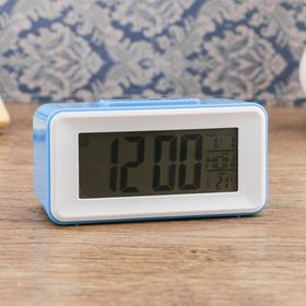 Часы-будильник электронные, с подсветкой, температура, дата, батарея 2ААА, 11х4.5х5 см Ош