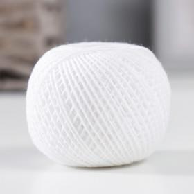 Нитки вязальные 'Флокс' 150м/25гр 100% хлопок немерсеризованный цвет 0101 Ош