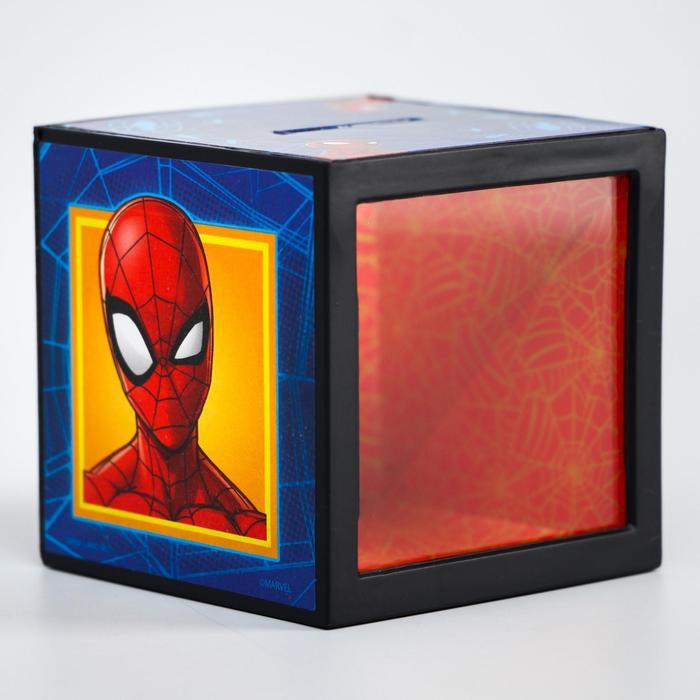Копилка с фокусом, Человек-паук, 7 х 7 см