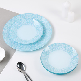 Сервиз столовый «Кружево», 7 предметов: 6 тарелок d=20 см, 1 тарелка d=30 см