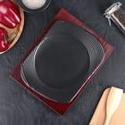 "Сковорода 24х19х2 см ""Мио круг"", на деревянной подставке - Фото 1"