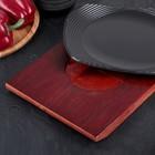 "Сковорода 24х19х2 см ""Мио круг"", на деревянной подставке - Фото 4"