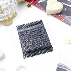 """Невидимка для волос """"Классика"""" (набор 24 шт) 5 см ребристые чёрные"""
