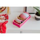 """Органайзер для белья 35×16×10 см """"Ваниль"""", 6 отделений, цвет розово-бежевый"""