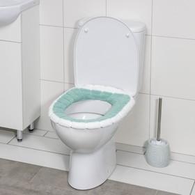 Чехол на сиденье для унитаза на резинке «Полоски», цвет МИКС