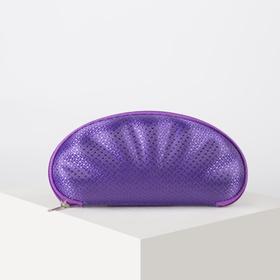 Футляр для очков, отдел на молнии, с ручкой, цвет фиолетовый Ош