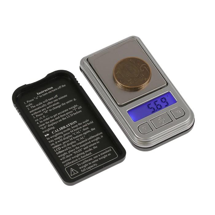 Весы LuazON LVU-04, портативные, электронные, до 200 г, серые