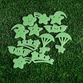 Набор светящегося декора 'Звёзды' 12 шт., зелёный Ош