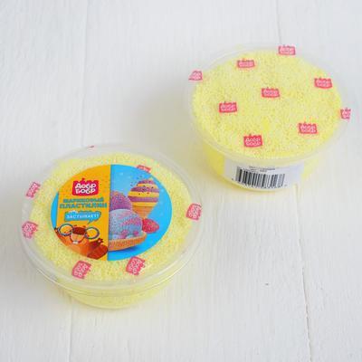 Шариковый пластилин застывающий 80 мл, жёлтый - Фото 1