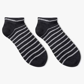 Носки женские, цвет чёрный, размер 23-25