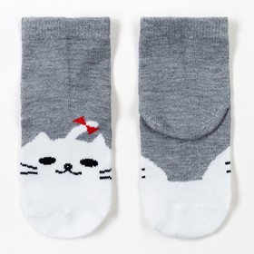 Носки детские Ft-551-M-12+2 цвет серый, р-р 20-22 Ош