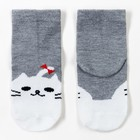 Носки детские Ft-551-M-12+2 цвет серый, р-р 18-20