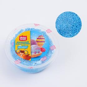 Шариковый пластилин застывающий 80 мл, голубой Ош