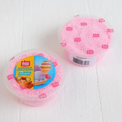 Шариковый пластилин застывающий 80 мл, розовый