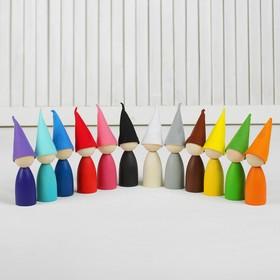 Сортер «Разноцветные гномики» 12 шт., в колпаках