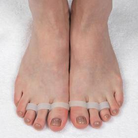 Корректоры для пальцев ног, на 3 пальца, пара, цвет белый Ош