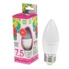 Лампа светодиодная ASD LED-СВЕЧА-standard, Е27, 7.5 Вт, 230 В, 6500 К, 675 Лм