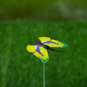 Штекер декоративный для комнатных растений 'Бабочка' 3х4см, 30см Ош