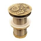 """Донный клапан без перелива Bronze de Luxe 21976/1, """"Лотос"""", клик-клак, для раковины, латунь   414237"""