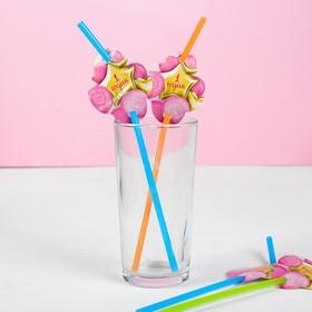 Трубочки для коктейля «1 годик», малышка, набор 6 шт. Ош