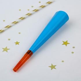 Дудка-гудок, набор 6 шт., цвет голубой Ош