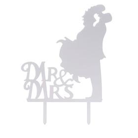 Топпер «Пара», Mr&Mrs, зеркальный, цвет серебряный