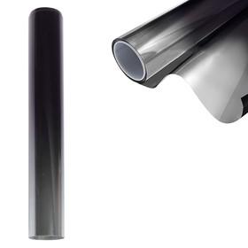 Тонировочная полоска на лобовое стекло, 20×150 см, 5%, переход черно-серебристый Ош