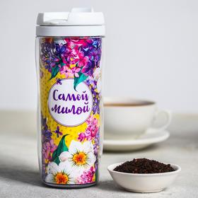 Чай чёрный «Самой милой»: в термостакане 350 мл, с ароматом лимона и мяты, 20 г
