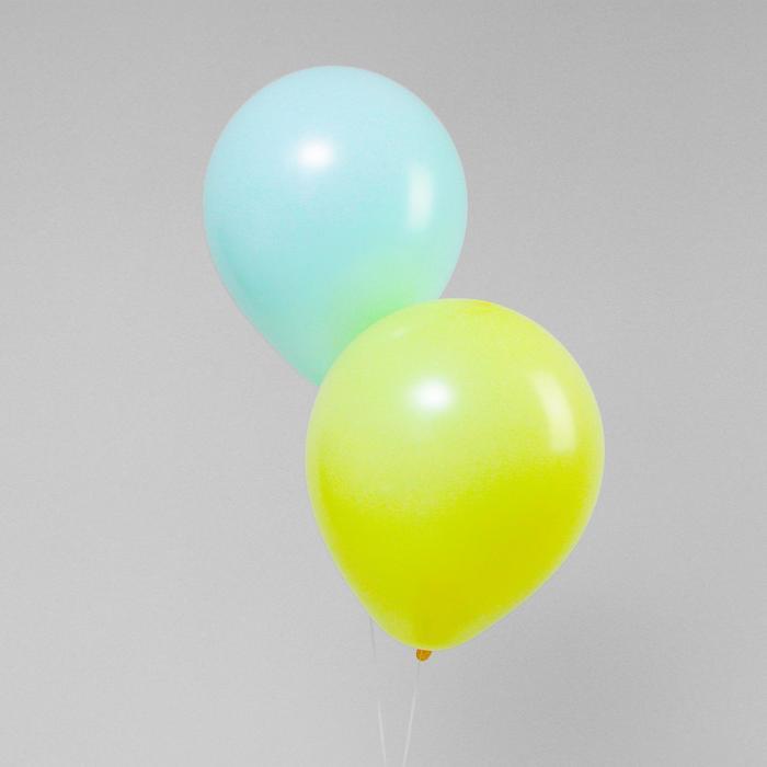 Шар латексный 18 Макарун, набор 2 шт., цвет жёлтый и зелёный