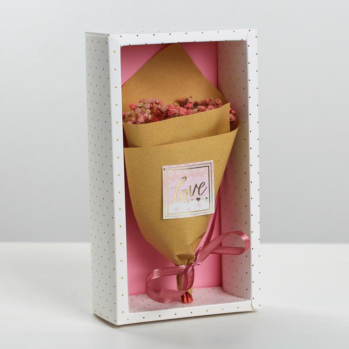 Букет из сухоцветов Love you, 13  21  5 см