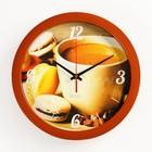 """Часы настенные, серия: Кухня, """"Кофе и макаруны"""", 28х28 см"""
