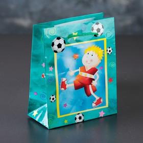 Пакет ламинированный 'Футбол', 12 х 15 х 5 см Ош