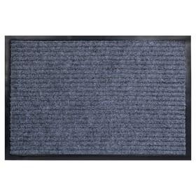 Коврик придверный влаговпитывающий, ребристый, «Стандарт», 40×60 см, цвет серый Ош