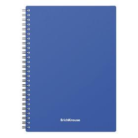 Тетрадь А5, 60 листов, на гребне, Erich Krause Classic, пластиковая обложка, синяя Ош