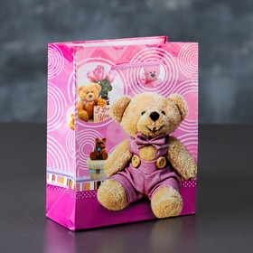 Пакет ламинированный «Медвежонок», 12 х 15 х 5 см Ош