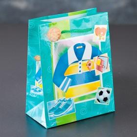 Пакет ламинированный 'Спортивные атрибуты', 12 х 15 х 5 см Ош