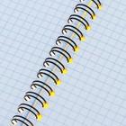 Тетрадь А5 на гребне, 60 листов в клетку Erich Krause Classic, пластиковая обложка, желтая - Фото 3