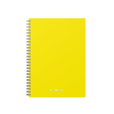 Тетрадь А5 на гребне, 60 листов в клетку Erich Krause Classic, пластиковая обложка, желтая - Фото 1